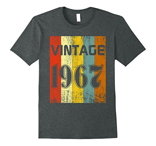 Mens Vintage 1967 T-Shirt, 60s 70s Retro Vintage Disco 1967 Shirt 3XL Dark Heather