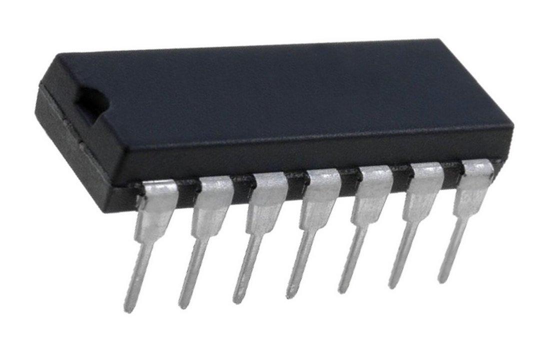 74HC00N 4 NAND-Gatter mit je 2 Eingängen DIP 14 (0009) Texas Instruments