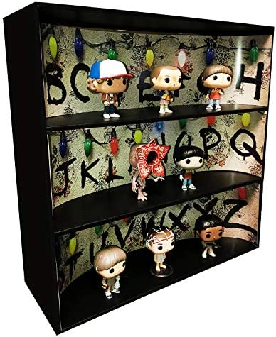 Themed Display Case for 4 inch Vinyl Collectibles3 Backdrop Inserts Black Corrugated Cardboard / Themed Display Case for 4 inch Vinyl Collectibles3 Backdrop Inserts Black Corrugated Cardboard