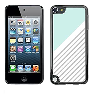 Smartphone Protective Case Hard Shell Cover for Cellphone Apple iPod Touch 5 / CECELL Phone case / / Blue White Grey Lines Pattern /
