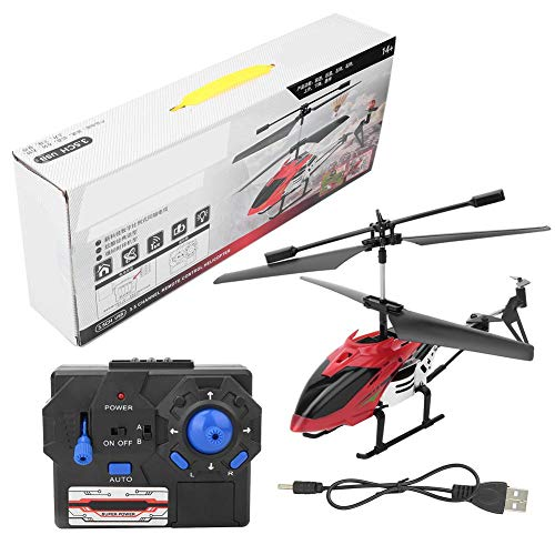 VGEBY1 Kids Airplane Toy, Remote Control LED Aircraft Electric Helicopter for Children Toddlers(Red)