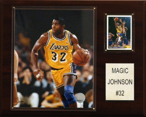 NBA Magic Johnson Los Angeles Lakers Player Plaque - Magic Johnson Olympics