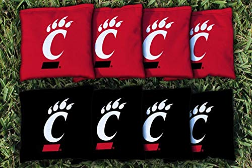 Victory Tailgate NCAA Regulation Cornhole Game Bag Set (8 Bags Included, Corn-Filled) - University of Cincinnati Bearcats