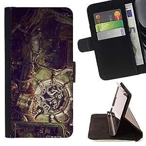 Momo Phone Case / Flip Funda de Cuero Case Cover - Ilustración Steampunk;;;;;;;; - Huawei Ascend P8 Lite (Not for Normal P8)