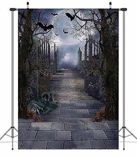Apotoe 2.1X1.5m Dacron Halloween Theme Pictorial Cloth Customized Photography Backdrop Background Studio Props WS001A -
