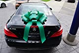 Eight24hours Big Car Bow Magnetic Back Vinyl No Scratch Large Gift Bow - Green