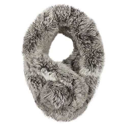 Fur Neck Wrap - Women Winter Thick Faux-Fur Scarf Cute Plush Infinity Collar Scarf Cozy Warm Neckerchiefs