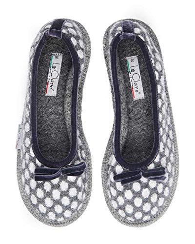 Pantofola a Pois Pois in Ballerina Invernale Modello Lana Donna Le Alice Clare Cotta tSqPxwnUa
