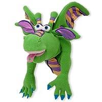 Melissa & Doug Smolder, la marioneta dragón con vara de madera desmontable para gestos animados