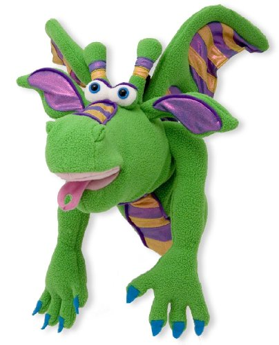 Melissa & Doug Smoulder the Dragon Puppet With Detachable Wooden Rod for Animated Gestures by Melissa & Doug