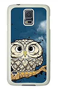 Owl White Hard Case Cover Skin For Samsung Galaxy S5 I9600