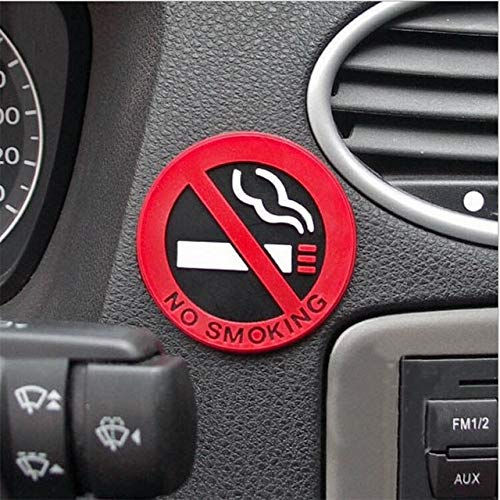 (3pc Rubber NO SMOKING Sign Tips Warning Logo Stickers Car Taxi Door Decal Badge Glue Sticker Promotion)