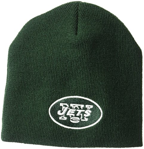 NFL Boys' New York Jets Uncuffed Knit Hat, New York Jets, Boys 8-20 - New York Jets Knit Hat