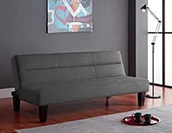 Amazoncom Kebo Futon Sofa Charcoal Gray Kitchen Dining