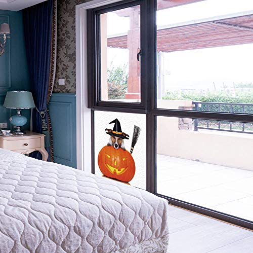 YOLIYANA Non Adhesive Window Film,Halloween,for Window Moving Glass