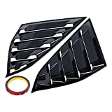 2X Carbon Fiber Style Rear Window Quarter Louvers Trim ABS Replacement Accord 2018