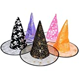 FDelinK Clearance Sale! Halloween Witch Hats Costumes for Women Girls Kids Costume Accessory
