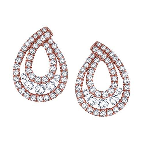 Giantti Diamant pour femme Boucles d'oreilles à tige (0.6568CT, VS Clarté, Gh-colour)