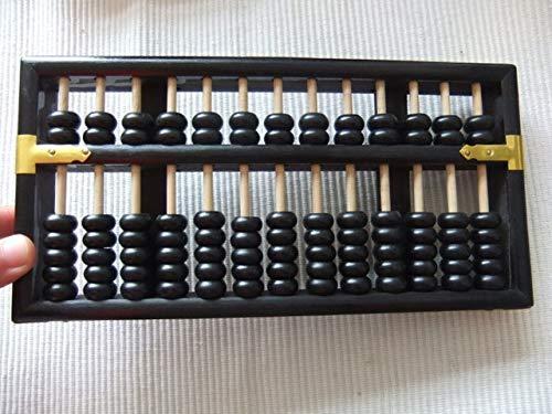 XuBa Xmf067 Soroban Chinois 13 colonnes N°5 pour Comptable, Outil de Banque en éducation mathématique Noir