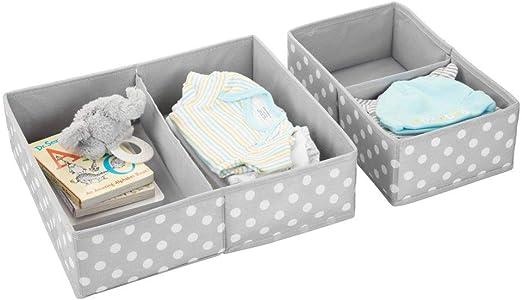 mDesign Juego de 2 cajas para guardar ropa – Práctico organizador ...