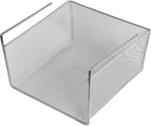 YBM Home Storage Bin, Under Shelf Basket, Silver (1, Medium 5.5x9.5x10) #1614 ()