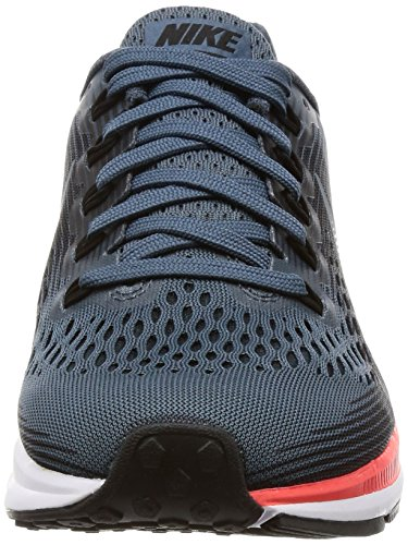 Nike Womens Wmns Air Zoom Pegasus 34, Blu Fox / Nero-luminoso Rosso Cremisi Fox / Nero-luminoso Cremisi