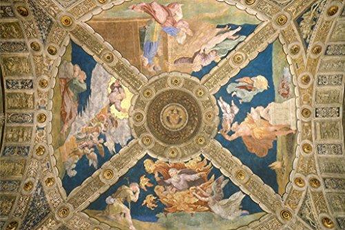Raphael Ceiling of The Room of Eliodorus 1513 Italian High Renaissance Fresco Art Mural Giant Poster 54x36 inch ()