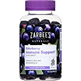 Cheap Zarbee's Naturals Elderberry Immune Support Gummies with Vitamin C, Zinc, Natural Berry Flavor (2 Pack (60Count))