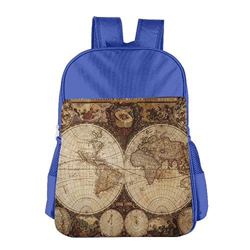 - Old World Map Drawn In 1720s Nostalgic Children School Backpack Carry Bag For Youth Boy Girl