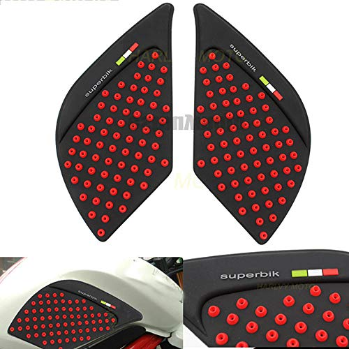 3M Motorcycle M+silica gel Motorcycle Tank Pad Protector Sticker Decal Gas Knee Grip Tank Traction Pad For Benelli 300 302 (Red) ()
