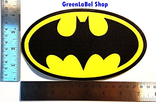 Wayne Family Costume (Big Large Jumbo Batman character superhero Bruce Wayne Patch Logo Sew Iron on Embroidered Appliques Badge Sign Costume Send Free Registration)
