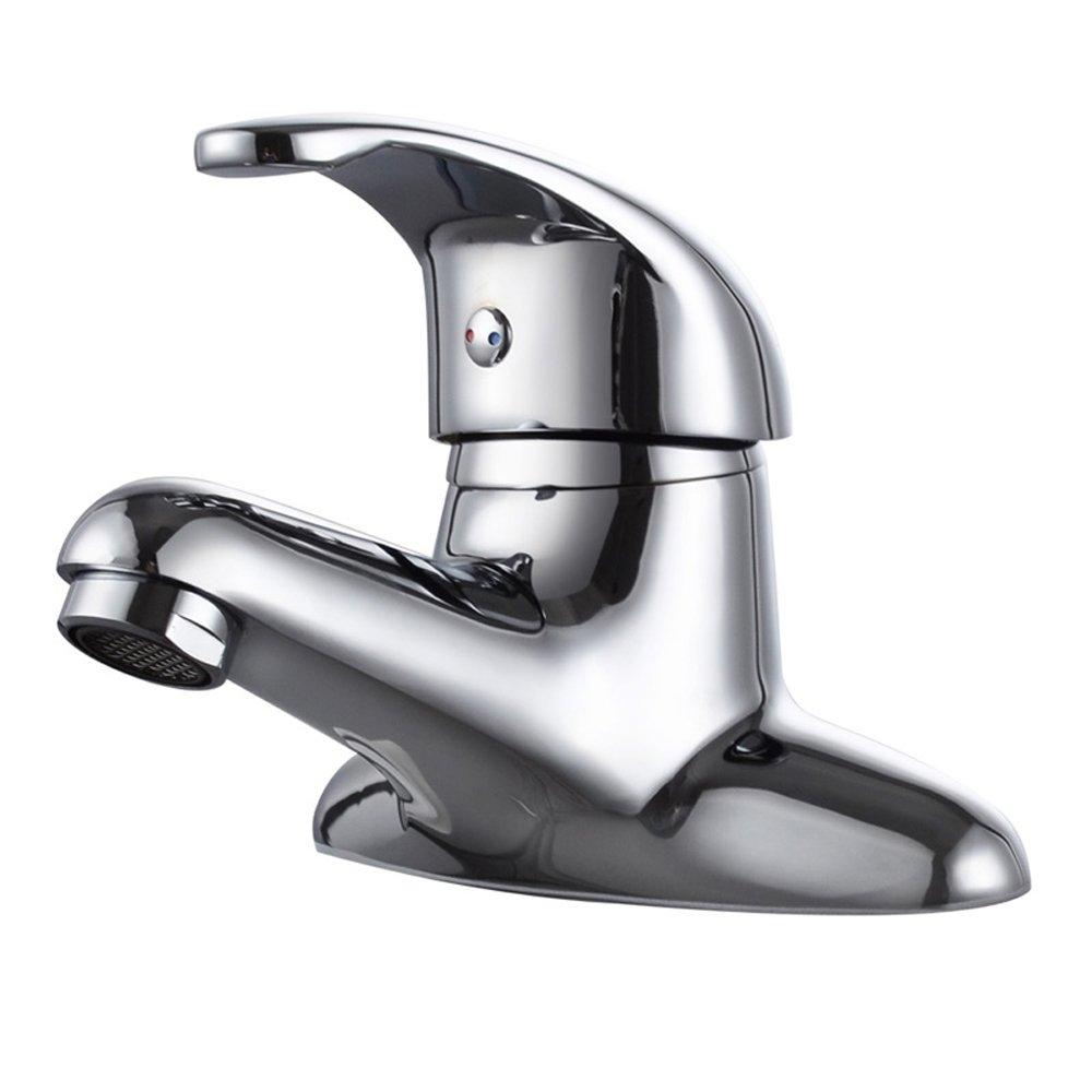 WINZSC All copper bathtub hot and cold water faucet double hole single bathroom washbasin basin head wx6041438
