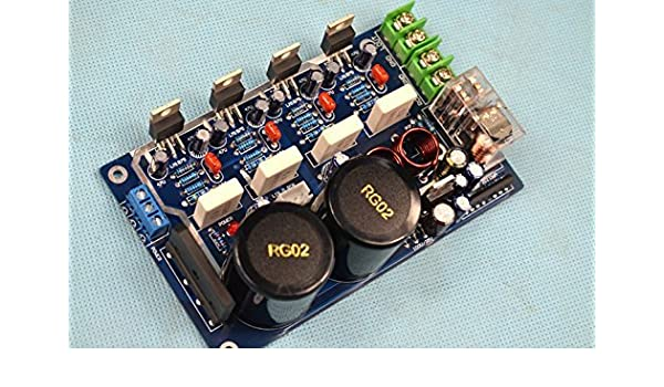 q-baihe LM1875 Doble Salida Paralelo HiFi Fiebre Junta Amplificador Terminado Junta sin disipador de Calor: Amazon.es: Bricolaje y herramientas