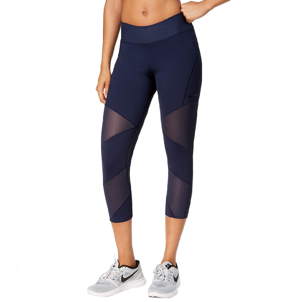 utterly stylish special selection of custom Nike Power Fly Lux Cropped Workout Leggings Blue Small at ...