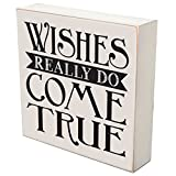 "Wishes Really Do Come True Happiness wedding anniversary gift for couple, housewarming gift ideas for Mr. and Mrs. shadow box by DaySpring Milestones 6""x6"" (Wishes really do)"