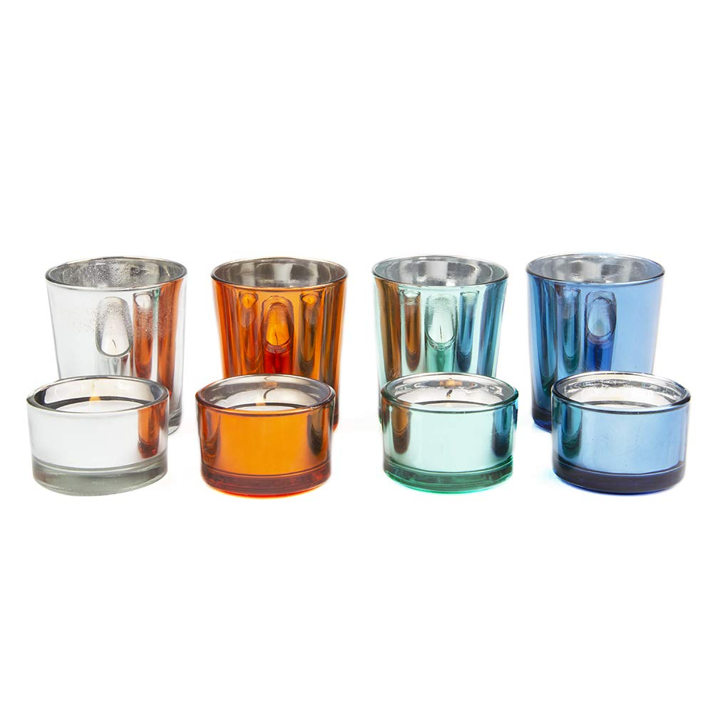 Wholesale Bulk Pack Premium Set of 24 Mixed Color Votive Candle Holder Ideal for Weddings Parties Special Events