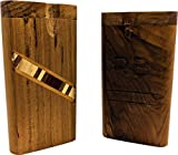 Stripe Inlaid Wood Rumble Box with Bat