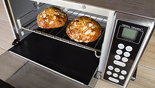 Kitchen + Home Toaster Oven Liner - Heavy Duty 100% PFOA & BPA Free – FDA Approved Non-stick Reusable Toaster Oven Liner - 2 Pack