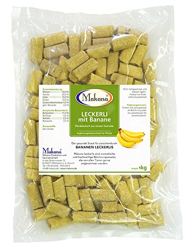 Makana Fuga erlie Juego de 3: Manzana Zanahoria//Snack para Caballos, 3/x 1/kg Ventaja Pack Banana