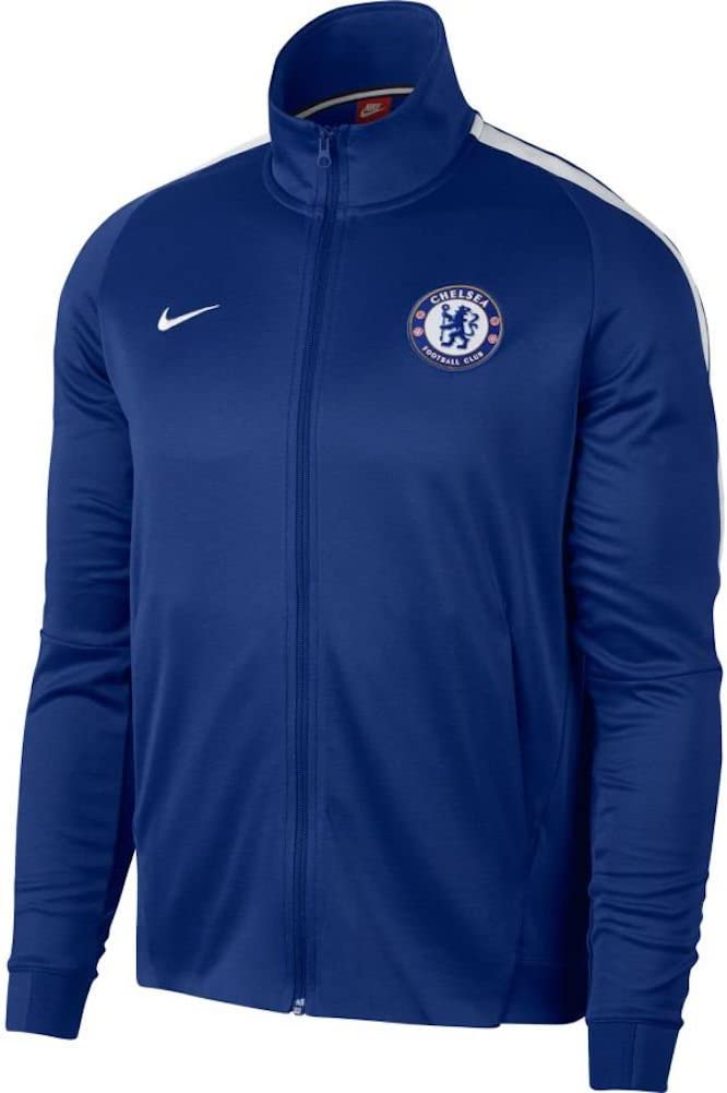 2017-2018 Chelsea Nike Authentic Track Jacket (青)