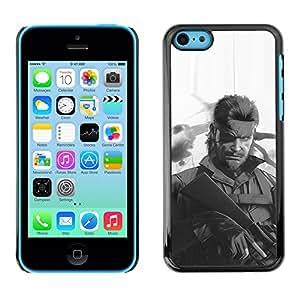 A-type Arte & diseño plástico duro Fundas Cover Cubre Hard Case Cover para iPhone 5C (Metal Gear S0Lid Serpiente)