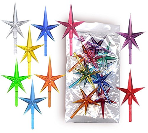 Stars plastic medium for the top of the ceramic Christmas tree 10 pack (Star Top)