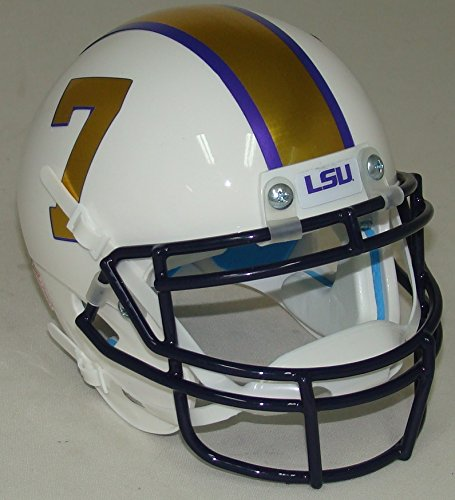LSU Tigers Mini XP Authentic Helmet Schutt Gridiron Gold - Lsu Helmet Decal