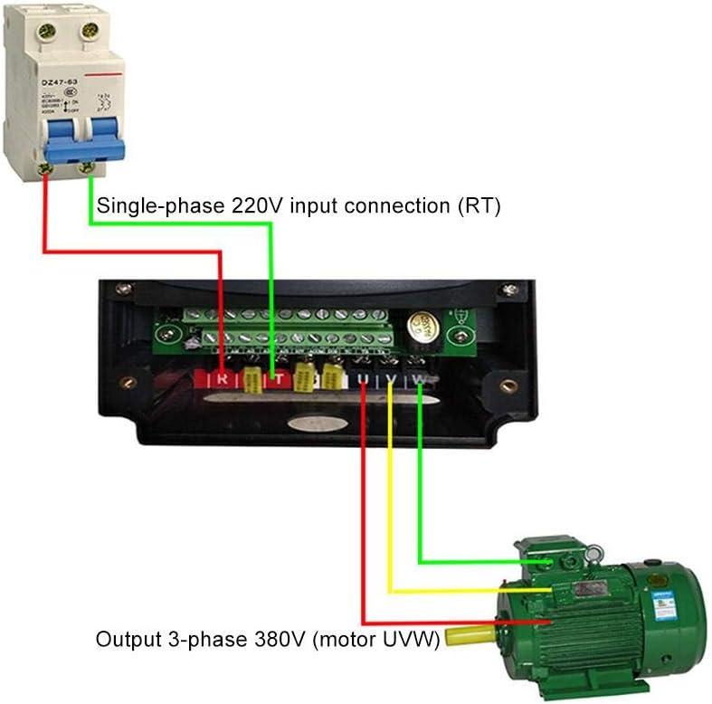 5.5kw Monophas/é 220v /à Triphas/é 380v VFD Variateur de Fr/équence pour Contr/ôle Moteur Nflixin 9100-1t3-00550g Convertisseur de Variateur de Fr/équence Convertisseur de Contr/ôleur de Vitesse