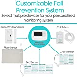 Vive Wireless Floor Alarm Mat - Fall Sensor Kit for Elderly, Seniors, Dementia Patients - Health Safety Weight Movement Pressure Pad Detector - Nurse, Caregiver, Caretaker Aid - Home Alert System