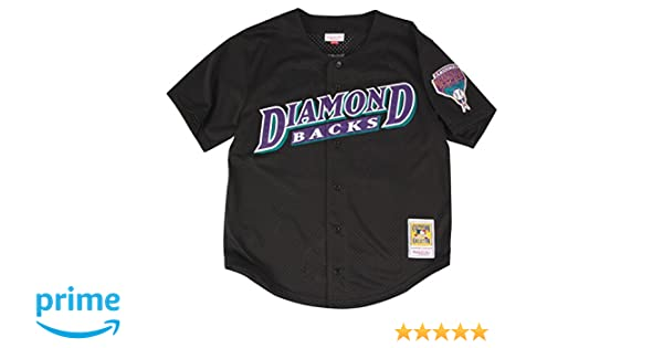 1ad7366c1 Amazon.com   Mitchell   Ness Randy Johnson Black Arizona Diamondbacks  Authentic Mesh Batting Practice Jersey   Clothing