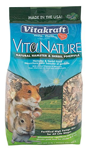 (Vitakraft Hamster And Gerbil Food Natural High Diversity Formula (1 Pouch), 2 Lb)