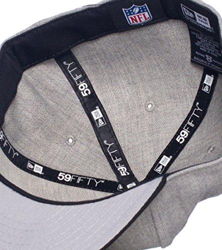 New Era Oakland Raiders Nfl Fitted Cap Grey 7 3/4