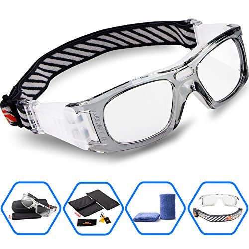 Ponosoon Sports Goggles Glasses for Basketball Football Volleyball Hockey 1827