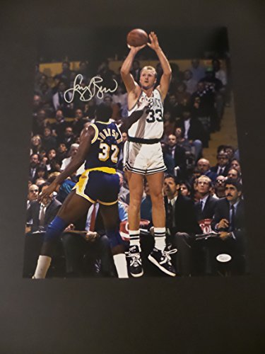 Larry Bird Signed Boston Celtics Autographed 16x20 ()